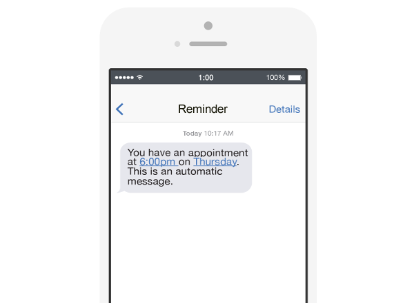 Phone With Reminder Text